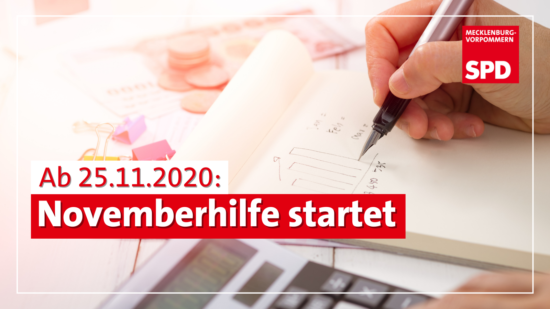 Novemberhilfe startet SPD MV